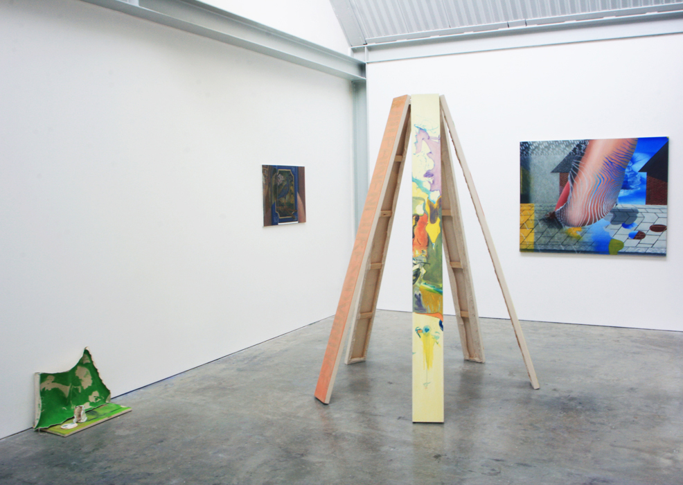 Installation view (with work by James Ng)